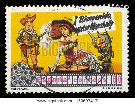 SPAIN, CIRCA 1996: stamp printed in Spain , shows