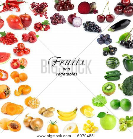 Fruits and vegetables. Fresh food. Food concept