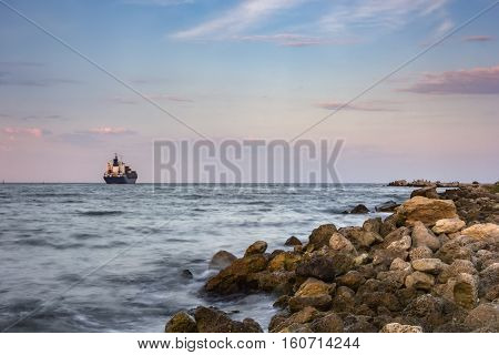 day view of a ship departing travel
