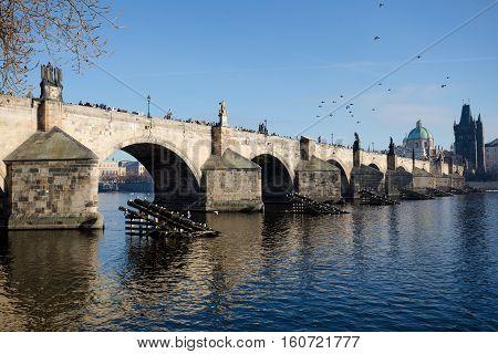 Famous Charles Bridge, Prague, Czech Republic