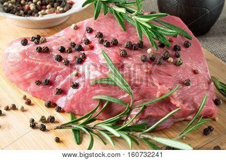 Tenderloin Of Raw Beef With Herbs And Spices