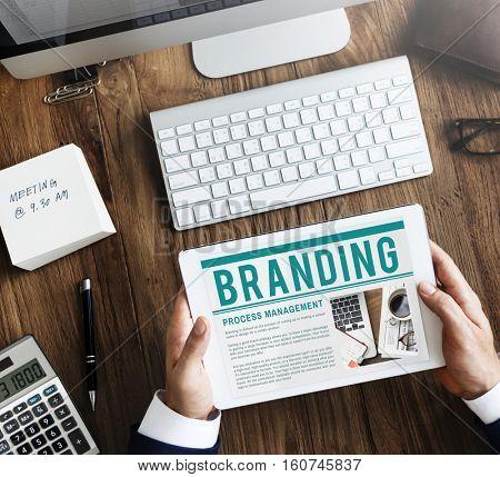 Branding Trademark Marketing Research Advertising Concept