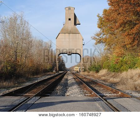 Old railroad coaling tower still standing in Indiana