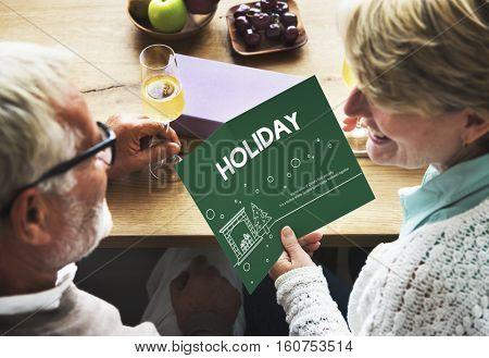 Happy Holiday Break Celebrate Party Enjoyment Concept
