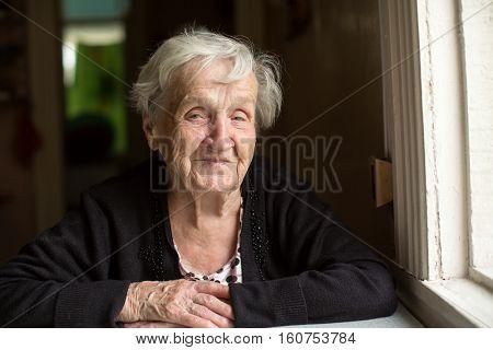 An elderly woman. Portrait.