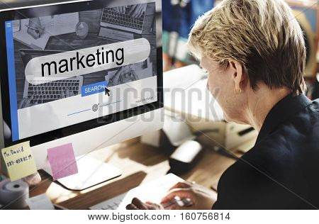 Startup Plan Marketing Strategy Concept