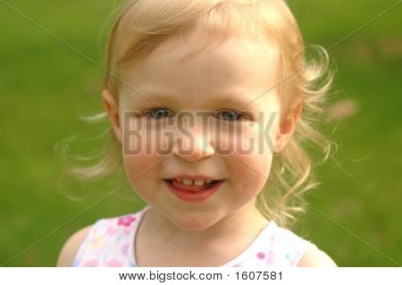 Little Blonde Girl Outside