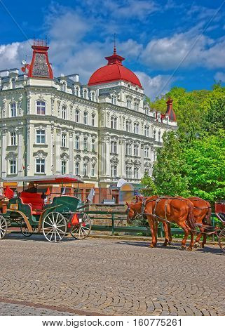 Horse Carriage In Karlovy Vary