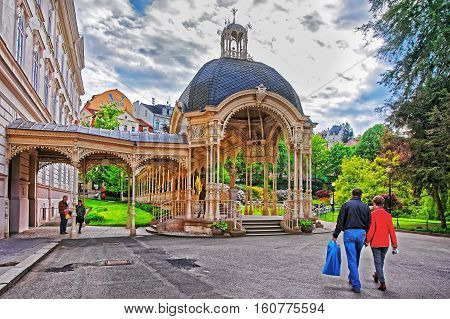 Park Colonnade In Karlovy Vary Czech Republic
