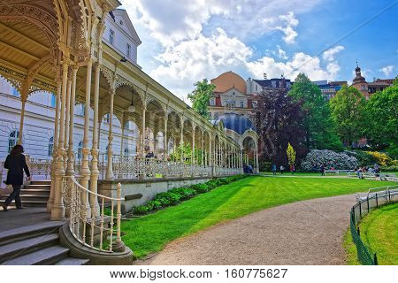 Park Colonnade With Wooden Arbor Karlovy Vary