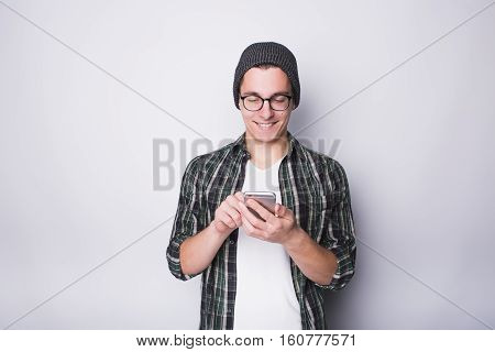 Young Stylish Man With Mobile Phone