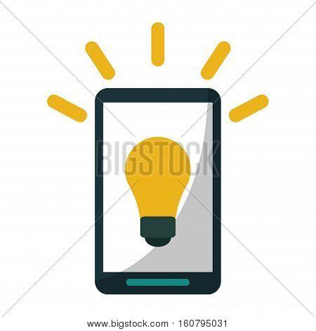smartphone bulb idea imagination vector illustration eps 10