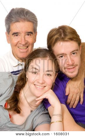 Caucasian Family Portrait
