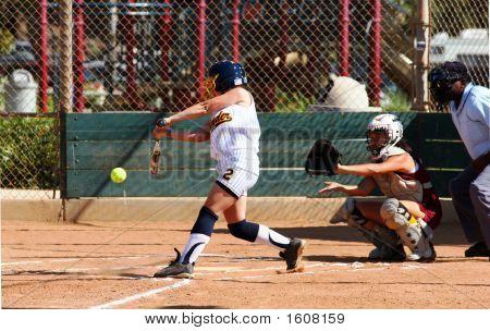 Softbol de lanzamiento rápido contacto