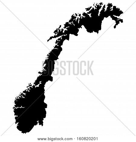 Territory of Norway on a white background