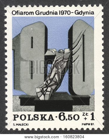 MOSCOW RUSSIA - CIRCA NOVEMBER 2016: a post stamp printed in POLAND the series
