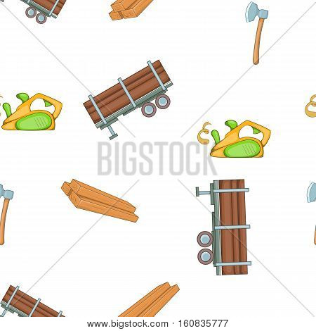 Timber elements pattern. Cartoon illustration of timber elements vector pattern for web