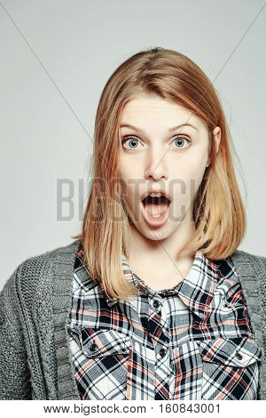 Surprised Girl With Open Mouth