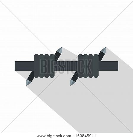 Barbed wire icon. Flat illustration of barbed wire vector icon for web