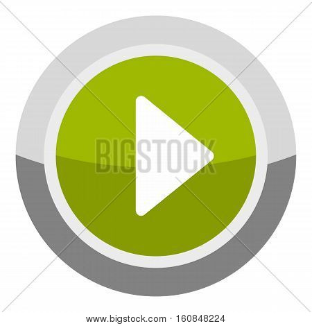 Play round button icon. Cartoon illustration of play round button vector icon for web