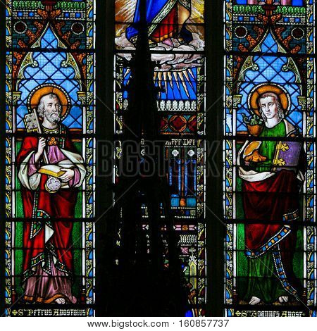 Stained Glass - Saint Peter And Saint John The Apostles