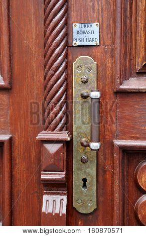 old the locked door in the house