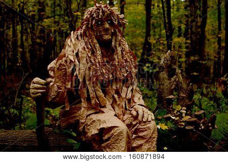 fantastic creature protects the forest. wood goblin protects forest
