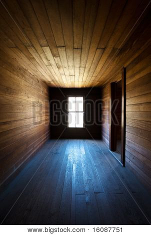Antique Wooden Spooky Abandoned Farm House Neglected Hallway
