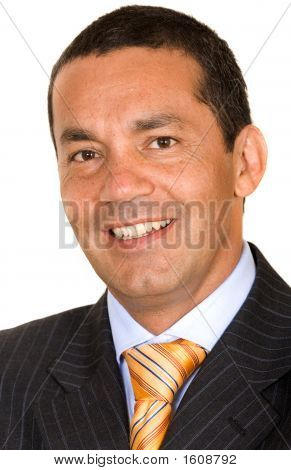 Hispanic Business Man Portrait