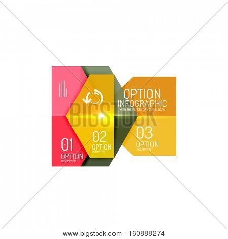 Business option diagram templates - geometric shapes with options elements for business background, numbered banners, graphic website