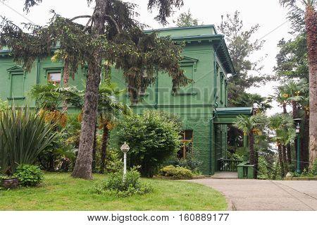 Sochi, Russia - 7 May, Plants at Stalin's dacha, 7 May, 2016. Stalin's dacha in the sanatorium Green Grove.