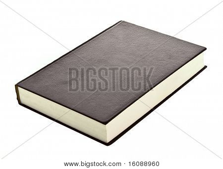 Hard cover book isolated on white