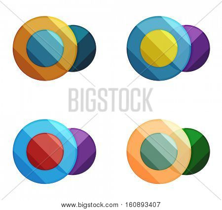 Vector circle banners. Illustration of abstract geometric template for option infographics, business diagram or presentation, graphic website, navigation infographic
