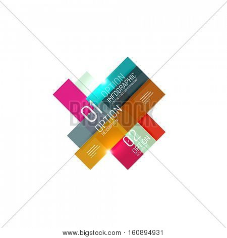 Business products option banners. Vector templates for presentation, web site or modern print template