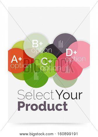 Option select infographic banner. Brochure - flyer, presentation or web design background