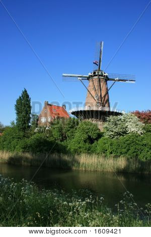 Windmill At Walcheren In Holland