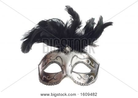 Silver Mask Isolated