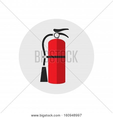 Fire extinguisher icon cartoon style. Single silhouette fire equipment icon. Vector illustration. Flat style
