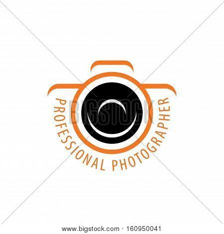 template design logo photographer. Vector illustration of icon