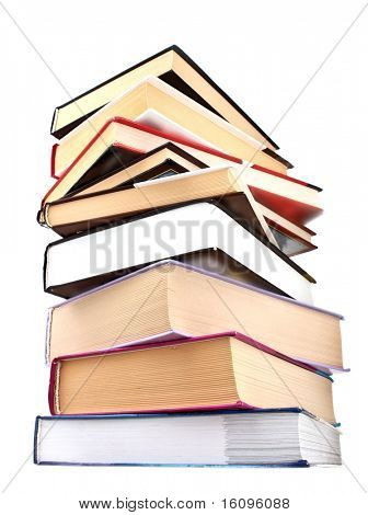 Hard cover books isolated on white
