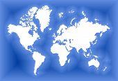 White World Map poster