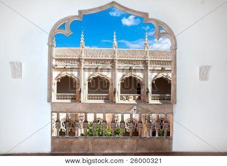 The old balcony of Claustro de Saint Juan de los Reyes, Toledo, Spain
