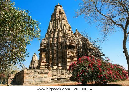 Kandariya Mahadev Temple, Grupo Ocidental, Khajuraho, Madhya Pradesh, Índia.