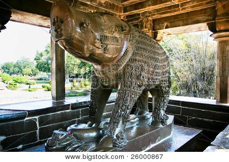 Varaha Shrine, small open shrine dedicated to Vishnu's boar irnacation, Western Group, Khajuraho, Madhya Pradesh, India.