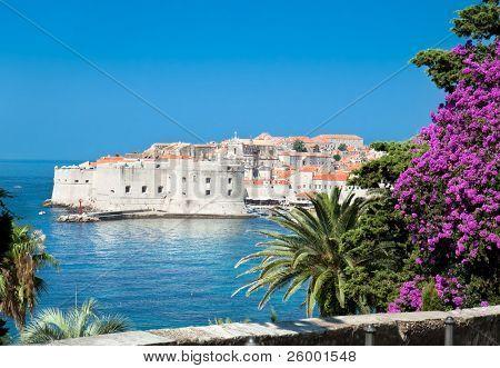 Panoramablick auf ein Alter von Dubrovnik, Kroatien