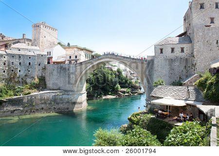 Old bridge on river Neretva - Mostar, Bosnia and Herzegovina