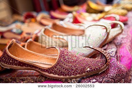 Authentic Iranian woman's shoes in Vakili bazaar, Shiraz, Iran