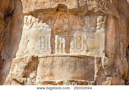 Bas-relief from Naqsh-e Rostam, Tomb of Persian Kings, Iran