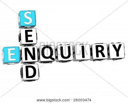 3D Enquiry Send Crossword
