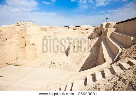 Ruins of The Sialk terraced step pyramid date back to 5500?6000 BC. is World Heritage Site at UNESCO. Kashan; Iran